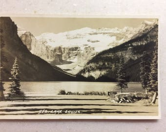 Vintage RPPC Lake Louise Banff Canada Postcard Alberta Canada Real Photo Postcard Canadian Postcard