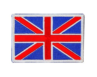 3 X 2 Inch Union Jack British Flag Iron-On Patch UK Nation Country Sew Applique