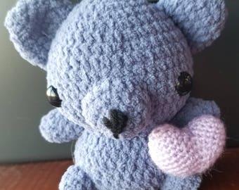 Chibi Valentine's Day Bear Amigurumi