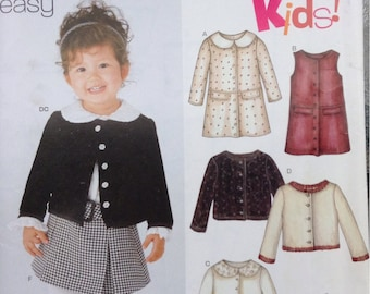 Toddler, little girl wardrobe New Look sewing pattern