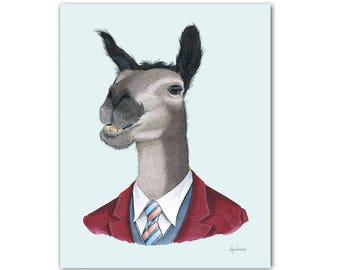 Llama print 5x7