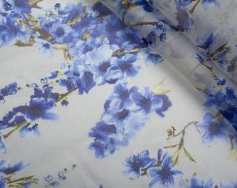 silk chiffon, natural silk chiffon, silk fabric, Italian silk, chiffon fabric, silk for dress, silk for tunic-0.5 / yard