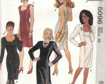 Sheath Dress Pattern McCalls 5096 Size 10 Uncut