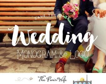 Hochzeit Logo Gestaltung individuelles Logo Design Hochzeit Monogramm Logo Entwurf Wordpress Hochzeit Webseite Blog Logo Hochzeit-Event planen, logo