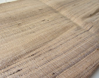 Natural raw silk undied natural color fabric nr 798 full yard or meter