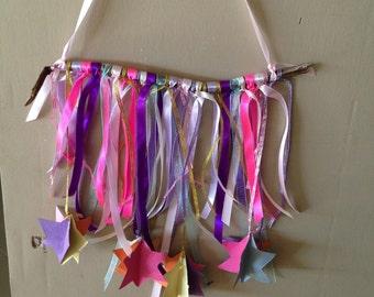 Stars and ribbons- wall swag