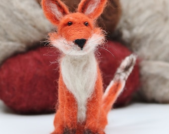 Fox needle felting kit for beginners. Everything you need to unlock your creativity. Just open the box and add enthusiasm!