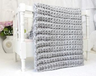 Beginner Crochet PATTERN 101 - Simply Chic - Baby Afghan Pattern - EASY Pattern - Beginner Crochet Baby Blanket