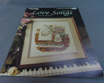 Counted Cross Stitch Pattern, Love Songs by Paula Vaughan Leisure Arts 679, Book 18