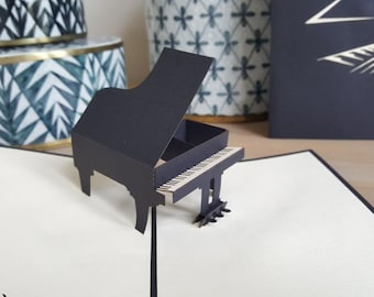 Piano pop-up card