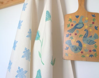 Closed Petal Daisy - Tea Towel - Organic Cotton