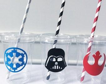 Star Wars Party, Star Wars Party Cups, Star Wars Party Favors, Star Wars Party Supplies, Darth Vader Party Cups, Star Wars Birthday Party