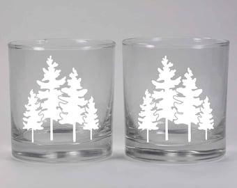 Family Tree Lowball Glasses - Set of 2