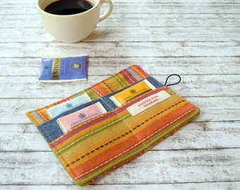 Tea wallet - Travel teabag holder - Fabric Teabag wallet - Tea bag holder - Tea Accessories - Tea caddy - Tea pouch - Gift for mum