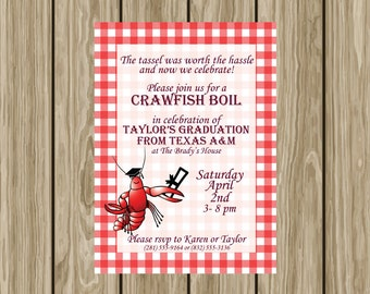Graduation Party & Crawfish Boil Invitation