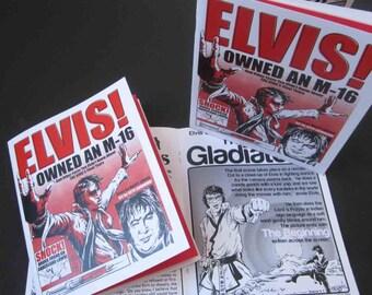 Elvis Drug Death Underground Comic Zine