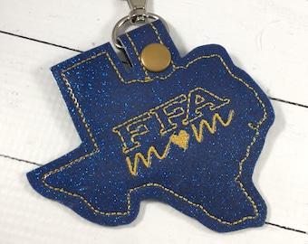Texas FFA Mom spirit tags- FFA gifts - backpack tags - future farmers of America -school spirit