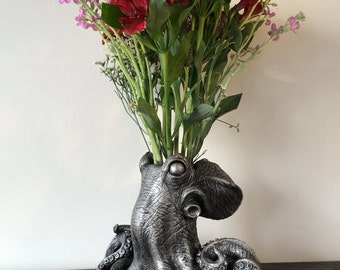 Kraken Vase, Pewter Finish