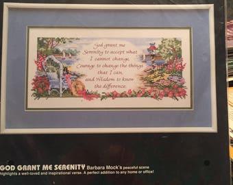 Cross stitch kit - God Grant me Serenity - unopened
