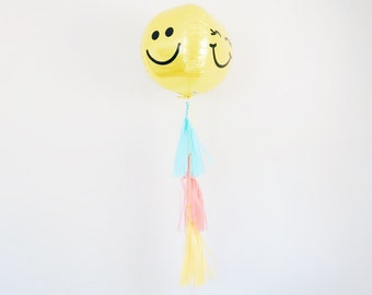 Emoji balloon with tassels - 3D multi emoji face balloon