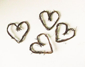 """4"""" Grapevine Twig Hearts, Wedding Decorations, Wreaths, Scrapbooking,Card Making,Art Projects"""