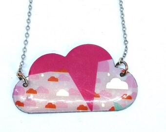 Unique cloud necklace