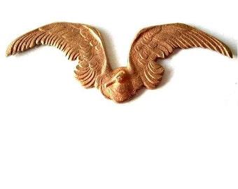 Flying bird vintage metal stamping findings