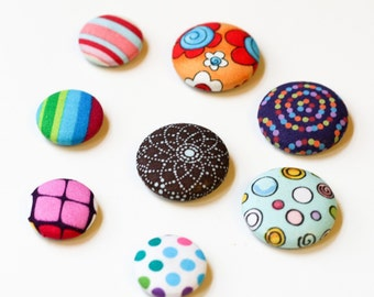 Covered Button Magnet - choose your own fabric