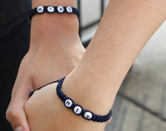 His and hers bracelet Couples Jewelry Handmade Boyfriend Girlfriend Jewelry His and Her jewelry  Valentines Day