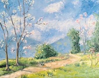 Landscape Oil Painting / Original Oil Painting on Canvas /