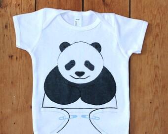 Unisex Baby Clothes - Panda Bear Onesie - Cute Onsies