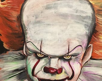 Stephen King IT Pennywise 2017 Painting Art Print