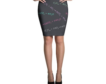 Combustion Chemistry Pencil Skirt