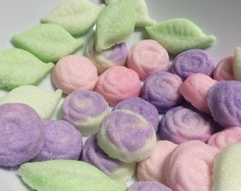 Sugar Cube ROSES and LEAF for Tea.Coffee.Weddings.Baby Showers and Party's