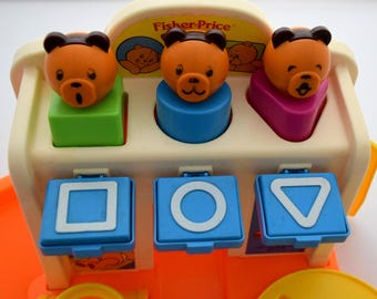 Vintage Fisher Price Bear Playground