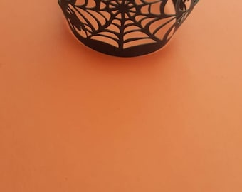 Halloween cupcakes wrapper party, spider cupcakes wraps, Halloween decoration party, 12 pcs