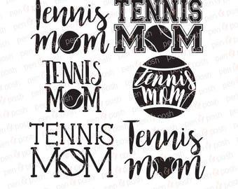 Tennis Mom SVG - Tennis SVG - Tennis Mom DXF - Tennis Mom Clipart - Tennis Dxf - Tennis Mom   Cut Files for Cricut