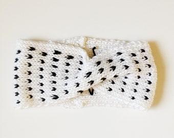 Polka Dot Knit Turban Headband