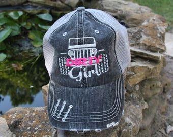 Dirty Girl Jeep Fan Hat **BLING**