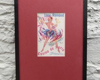 An Original Framed Casino de Paris programme cover 'Plaisirs de Paris'