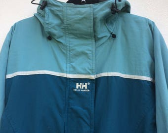 Vintage Helly Hansen Techgear Trekking Jacket Helly Hansen Hooded Heavy Jacket. Mountain Jacket Size Large Outerwear Sportwear