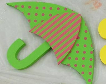 Umbrella Interchangeable  Wood Welcome Sign Shapes