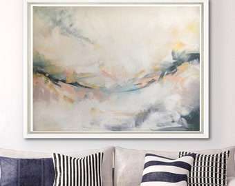 Abstract Painting on Canvas Board