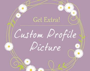 Custom profile picture for premade WordPress template