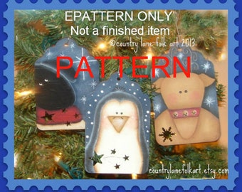 Christmas ornaments painting pattern, painting epattern, christmas ornament pattern, tole painting patterns, penguin pattern