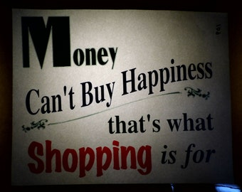 Vintage Money can't buy happiness Heat Transfer