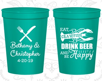 Teal Stadium Cups, Teal Cups, Teal Party Cups, Teal Wedding Cups (332)