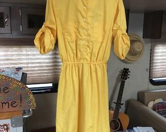 Vintage Yellow Dress