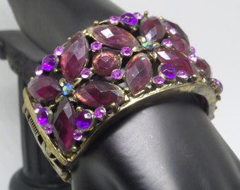Purple Rain Glamour Cuff Bracelet