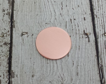 Copper Round Blank - 3/4 inch Circle Stamping Disc - 20 Gauge Copper